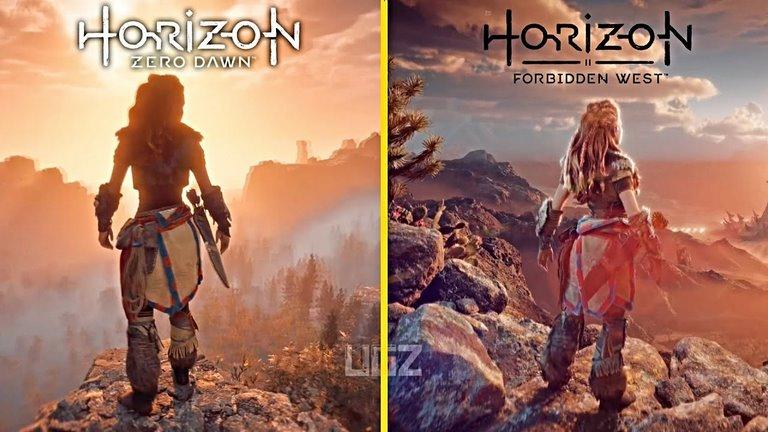 مقایسهی گرافیکی Horizon Forbidden West با بازی نخست